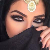 Arab women eye makeup